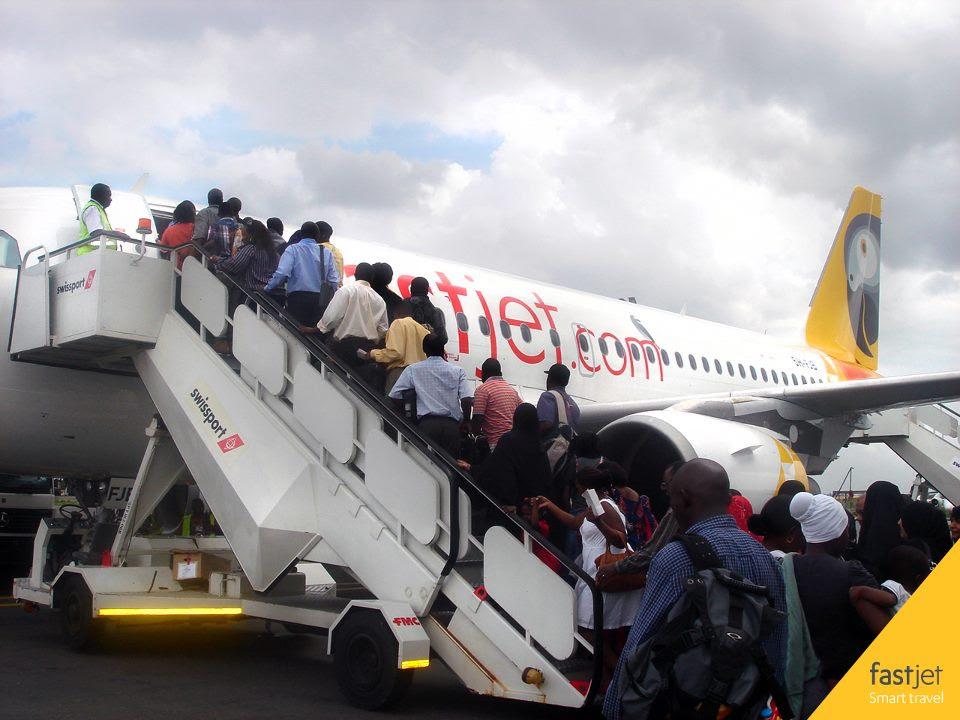 fastjet's inaugural flight to Mwanza