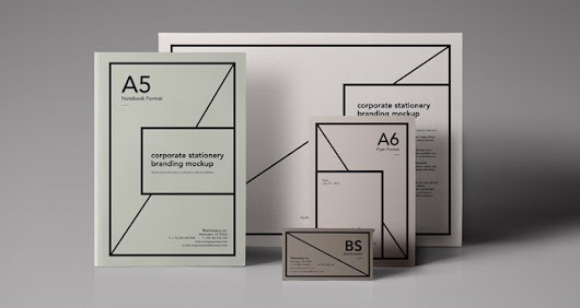 Essential Stationery Branding Mockup | Psd Mock Up Templates | Pixeden