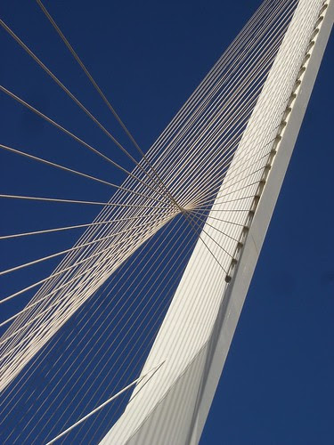 Chords bridge against a blue sky
