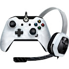 PDP - Wired with Afterglow LVL1 Chat Headset Controller for PC and Xbox One - Camo White