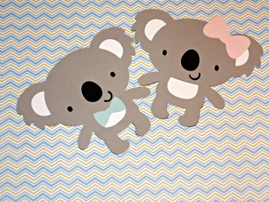 Koala Bear Birthday Party/ Koala Baby Shower/ Koala BirthdayParty/ Koala Centerpieces/ Koala Party Favor Tags/Koala Diaper Cake Die Cuts