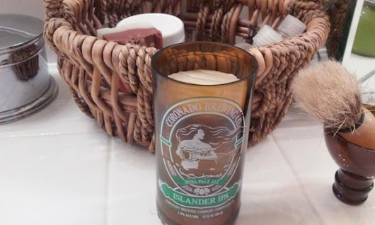 Coronado Brewing Co -- Islander IPA -- Shaving Mug with Cedar Lavender Shaving Soap Puck