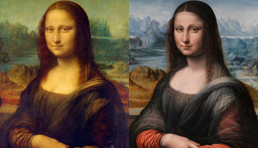Mona Lisa's Twin (Shocking finding) - Andy Hahn Art - Modern Abstract Art - Paintings and Metal Wall Art