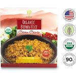 Golden Nest Healthee Organic Chicken Chipotle Brown Rice - 3 Bowls x 216 Grams (7.6 oz.)