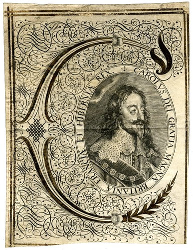 Bust portrait of Charles I in state robes