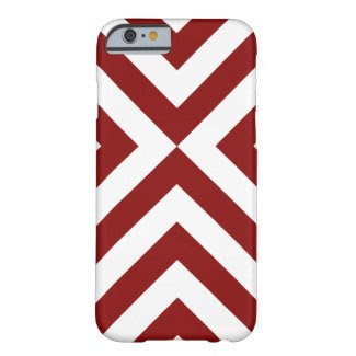 Red and White Chevrons iPhone 6 Case