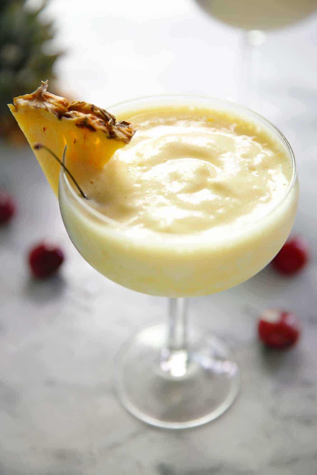 4 Ingredient Lightened Up Pina Colada