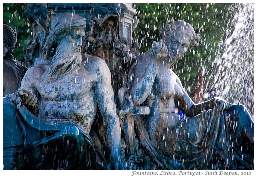 Most beautiful fountains - Portugal, Lisbon - Images by Sunil Deepak