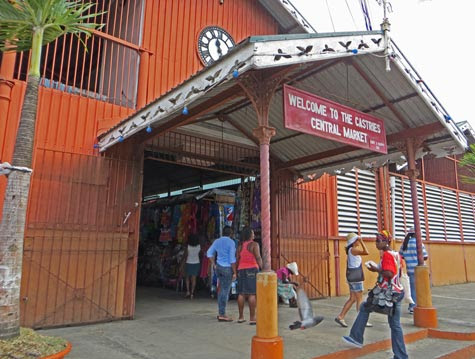 Castries Central Market - St. Lucia Tourist Attraction