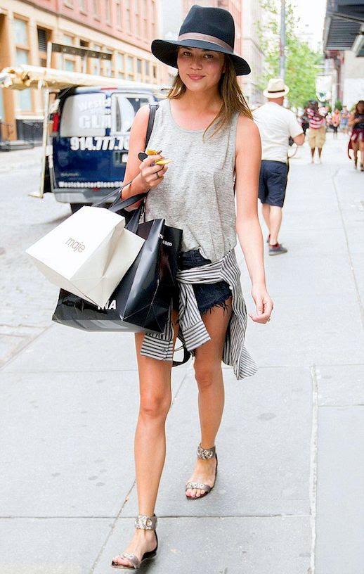 3 Le Fashion Blog 11 Chrissy Teigen Looks Hat Tank Top Cut Offs Snakeskin Sandals New York City photo 3-Le-Fashion-Blog-11-Chrissy-Teigen-Looks-Hat-Tank-Top-Cut-Offs-Snakeskin-Sandals-New-York-City.jpg