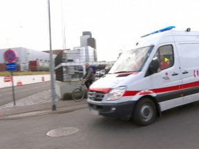 Emergency crews rush to the scene of the train crash in Leuven. Pic: Enex