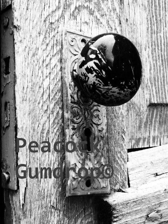 Beautiful Black and White Door knob photo - 8 x 10 frame Print Art Photography