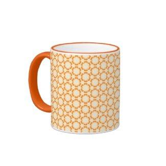 Vintage Orange Floral Mug zazzle_mug