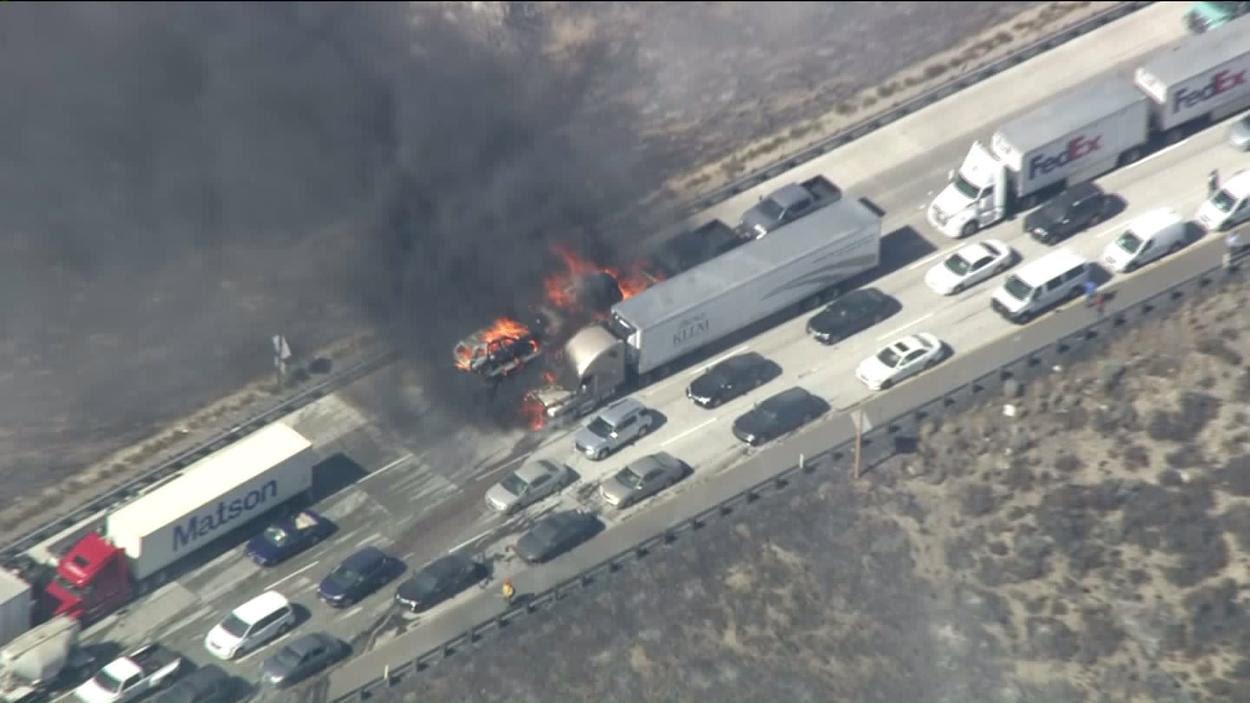 Cajon Pass fire