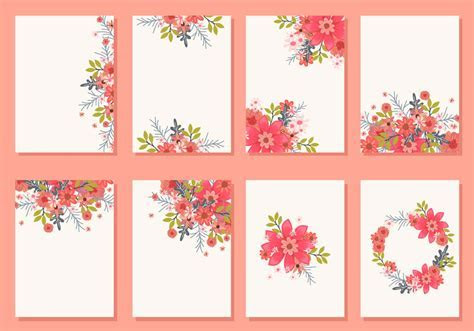 Floral Wedding Invitation Card Vectors   Download Free