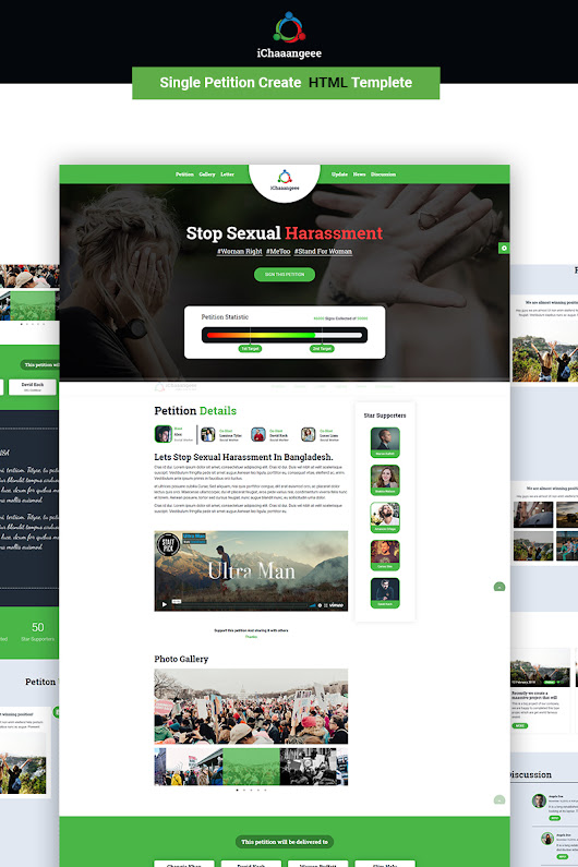iChaaangeee Petition Landing Page Template #70619