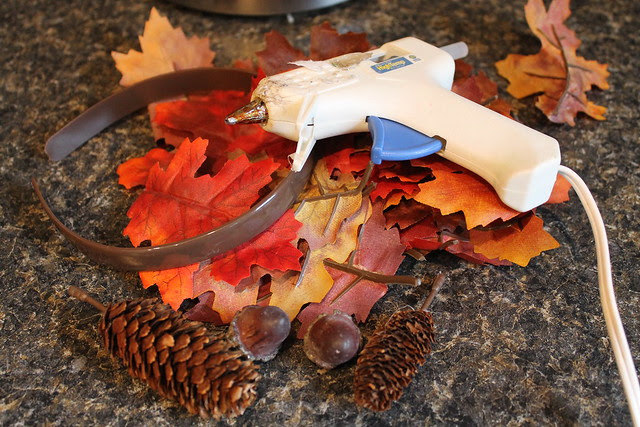 How to make a fall leaf crown
