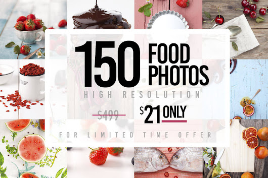 150 Hi-Res Food Photos from Yummy Stock - only $21!
