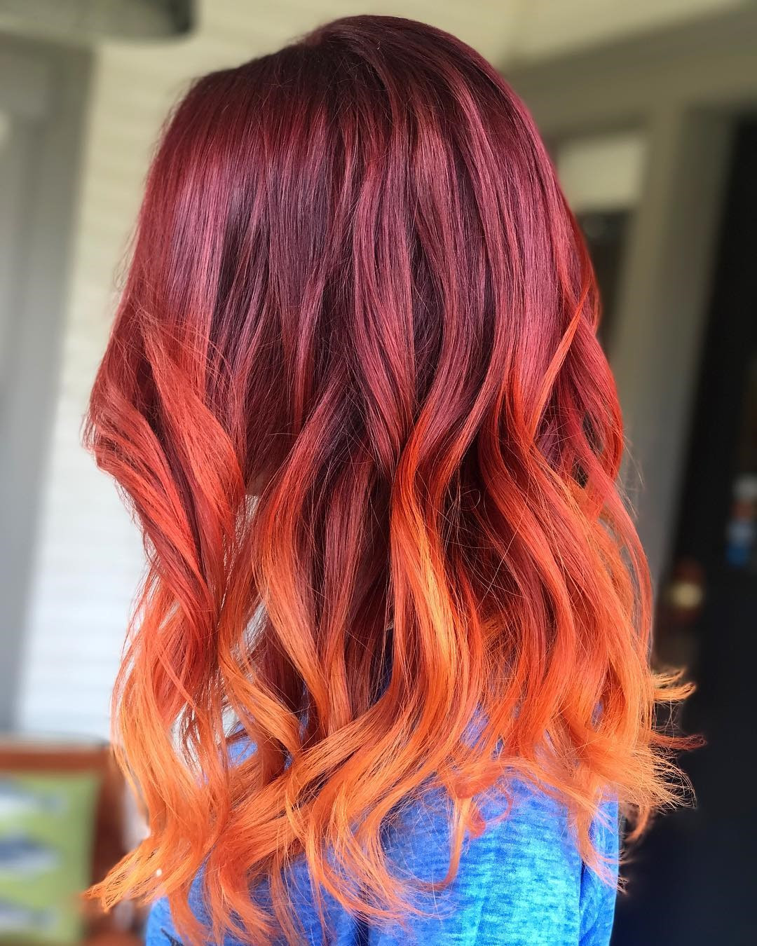 Hair Color Trends For 2018 Red Ombre Hairstyles Pretty Designs