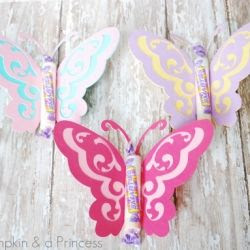 butterfly party favors / a pumpkin & a princess
