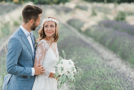 Chic Lavender Field Provence Wedding - French Wedding Style
