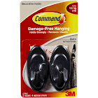 3M Command Terrace Hooks, Slate, M - 2 pack