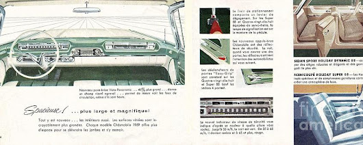 1959 Oldsmobile Prestige Brochure Page 24 And 25 by R Muirhead Art