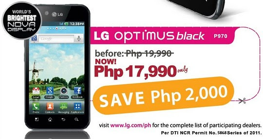 lg optimus black sale