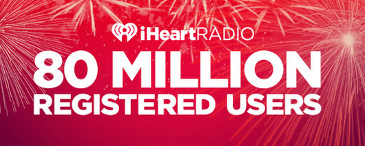 iHeartRadio Hits A New Milestone: 80 Million Registered Users! 