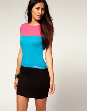 Image 1 of Miss Sixty Colour Block Mini Dress