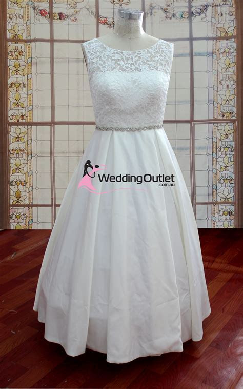 Aubree Beach Simple Lace Wedding Dress   WeddingOutlet.com.au