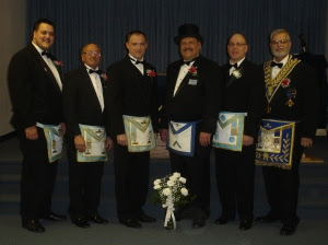 WM Tom Klecan and Members of St. George Lodge