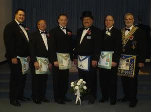 WM Tom Klecan and Members of St. George Lodge