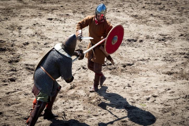 vikingos en batalla