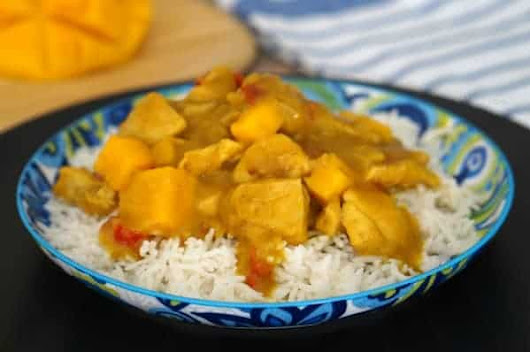 'No Fuss' Easy Mango Chicken Curry! - Sparkles in the Everyday!