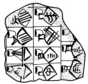 Drawing of a list of vessels from Archaic Uruk, circa 3500 BCE