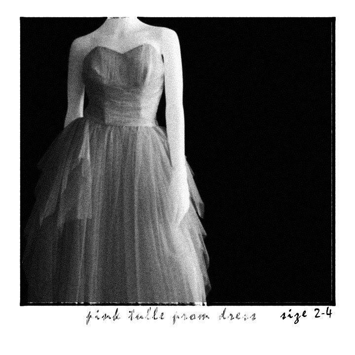PINK . Vintage Tulle Fairy Prom Dress . MAKE BETSEY JEALOUS
