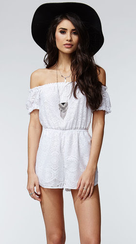 Kendall & Kylie Short Sleeve Off Shoulder Romper ($45)
