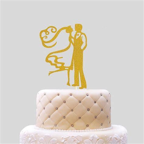 Gold Baking Supplies Bride & Groom Cake Dolls Wedding Cake