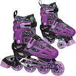 Roller Derby Lomond Girls' Adjustable Inline-Quad Combo Skates - Black (3-6)