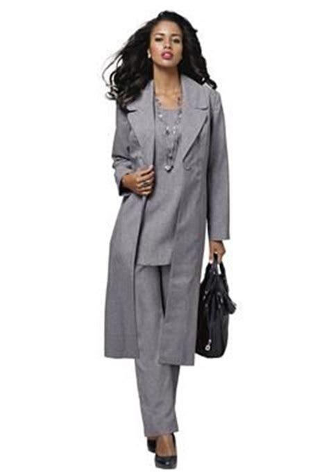 piece duster pantsuit  size pant suits roamans