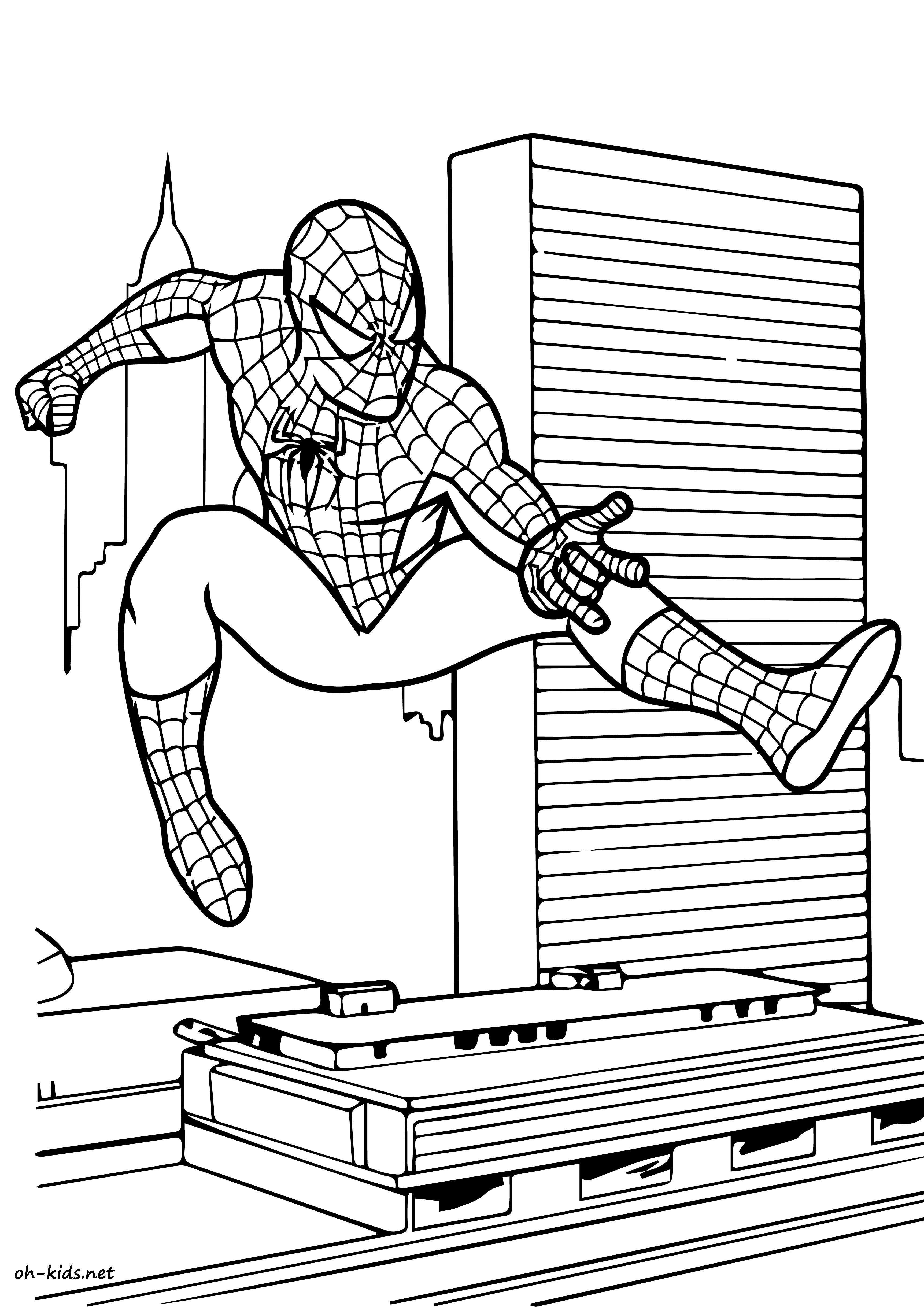 Frais Coloriage A Imprimer Spiderman | Imprimer et Obtenir une Coloriage Gratuit Ici