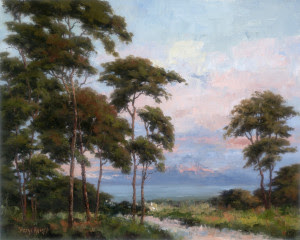 "Sheryl Knight - ""Evening Cypress"" - 16""x 20"" - Oil"