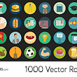 1500 Royalty Free flat icons vector Set PSD| SVG | Ai | PNG | EPS
