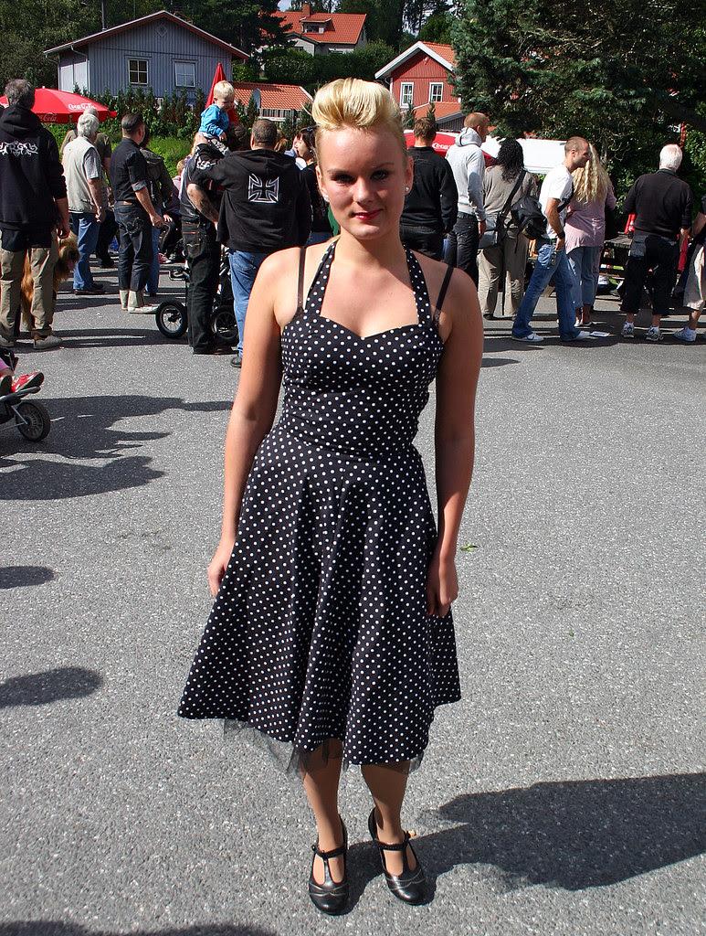 The Girl in the Black Polka Dot Dress
