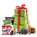 Happy July 4 Gluten Free Gift Tower Gift Basket