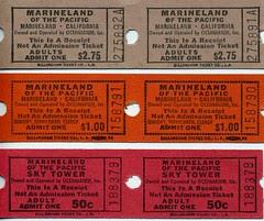 1960's Marineland Tickets