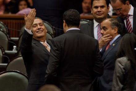 Beltrones durante la sesión en San Lázaro. Foto: Miguel Dimayuga