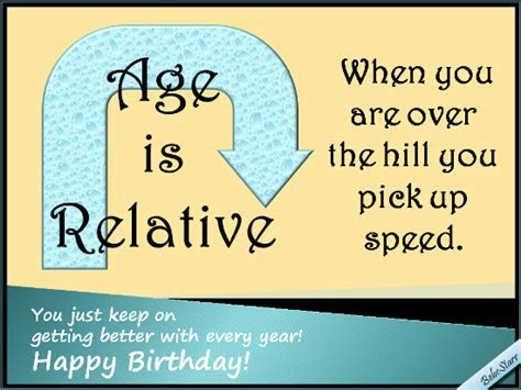 Age Is Relative. Free Milestones eCards, Greeting Cards