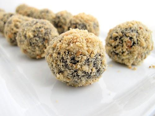 hazelnut-espresso truffles
